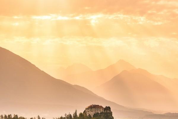 Sunrise over the castle