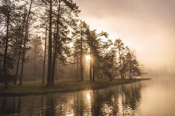sunrise-over-small-island-on-the-lake