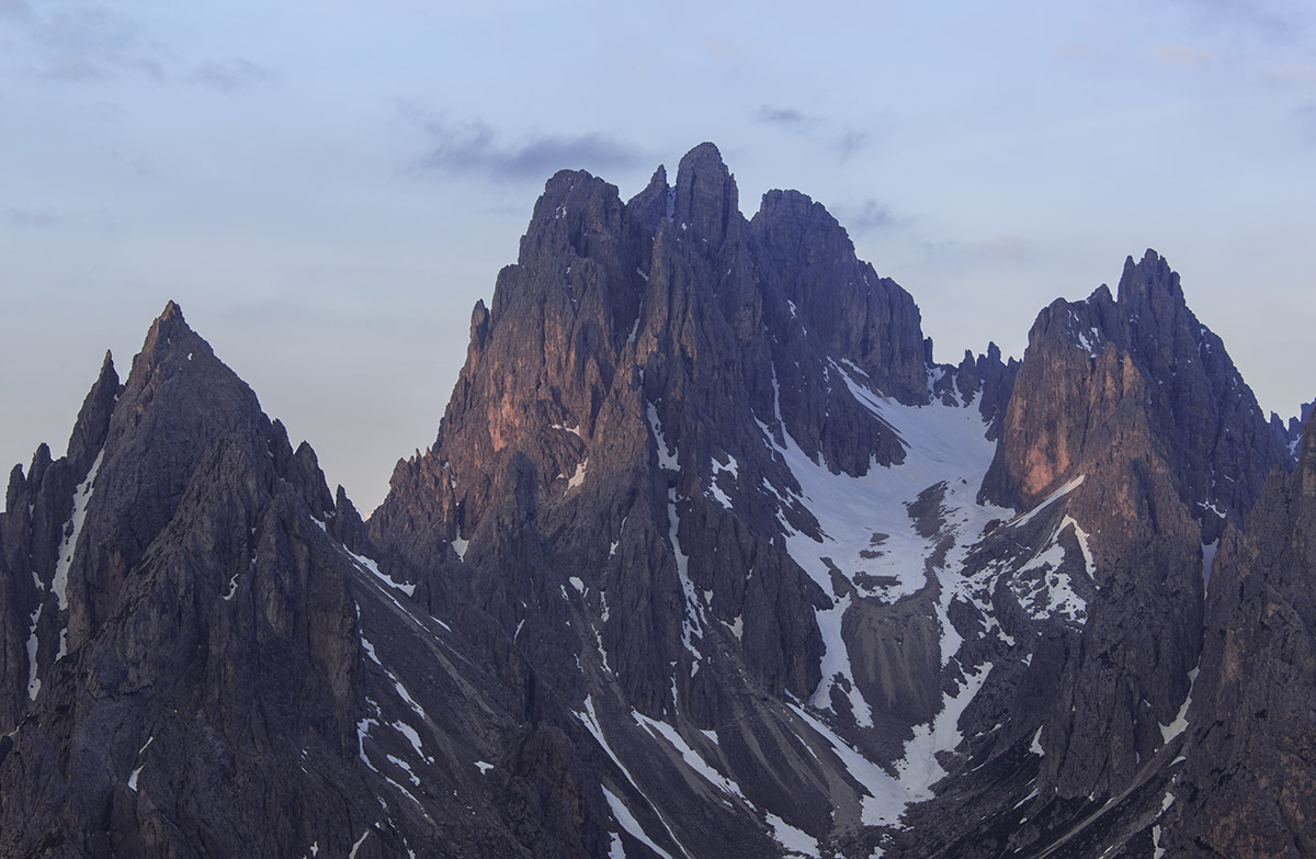 Dolomites mountain peaks are wild and inaccessible. Perfect world for Climbers.