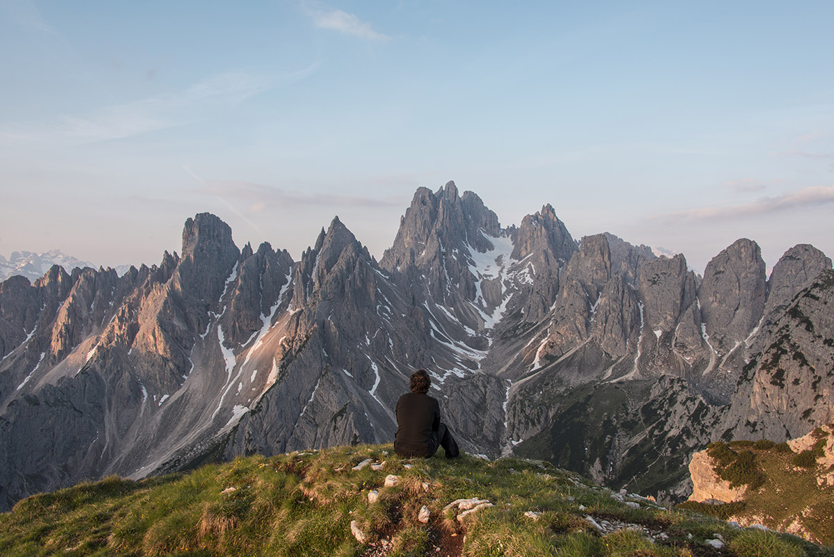 I always make a self portrait or two, just to show how grandiose landscape can be.