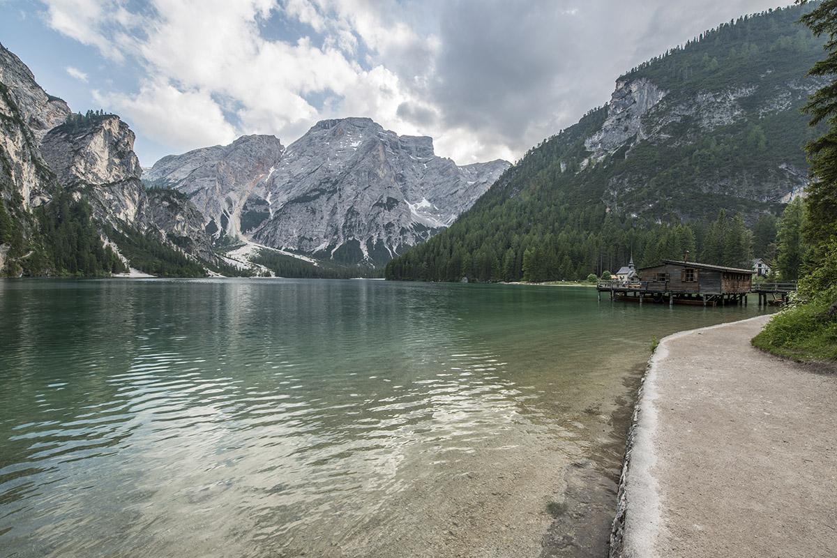 Weather wasn't as perfect as I hoped for, but it's still a decent shot of Lago di Braies.