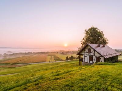 medieval-cottage-sunrise