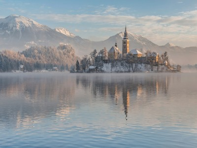 Bled on a winter morning