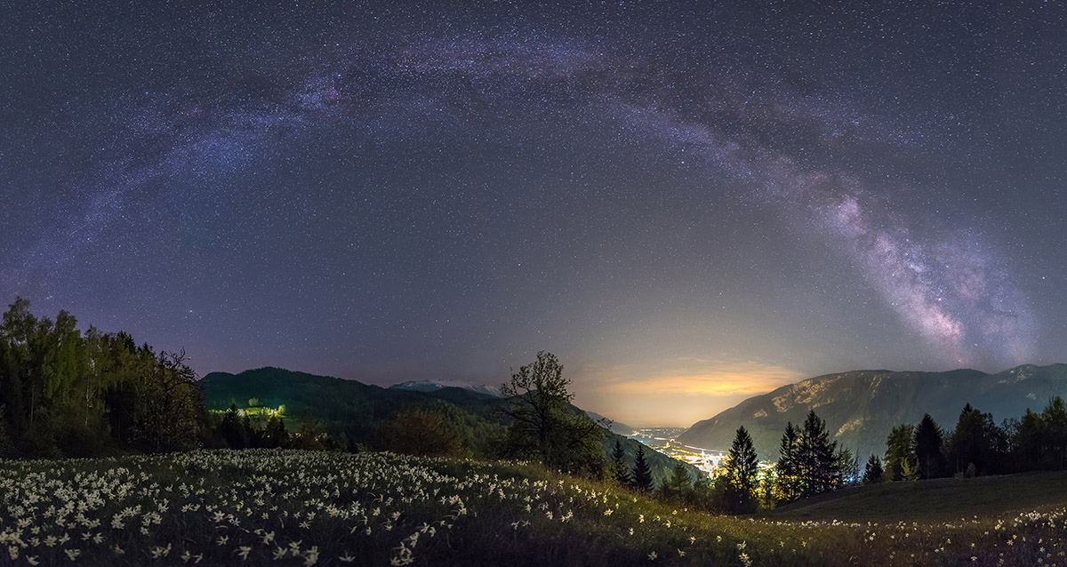 Milky way over my hometown in Slovenia