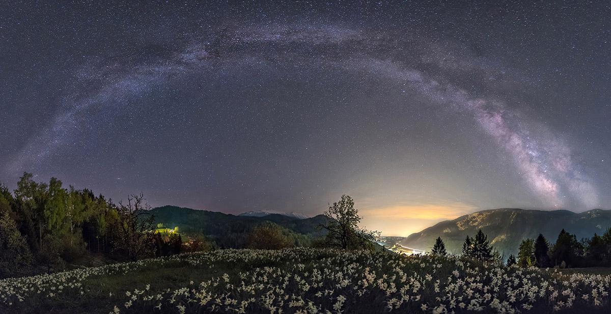 Milky way over my hometown in Slovenia