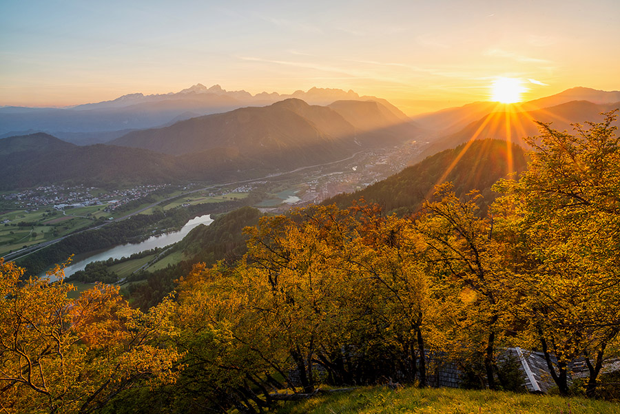 View of my hometown Jesenice from the local hill, Ajdna
