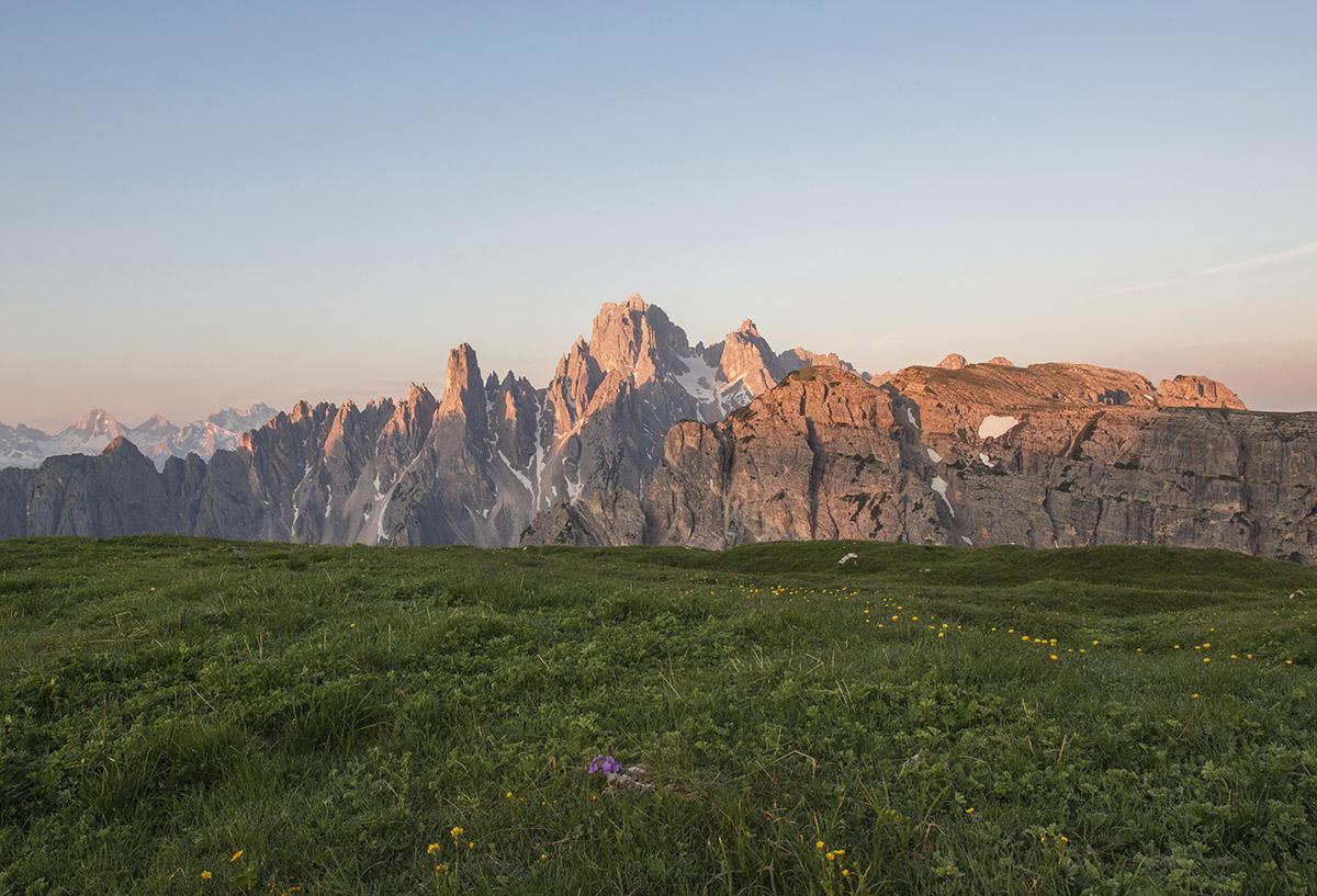 View from Tre cime di Lavaredo