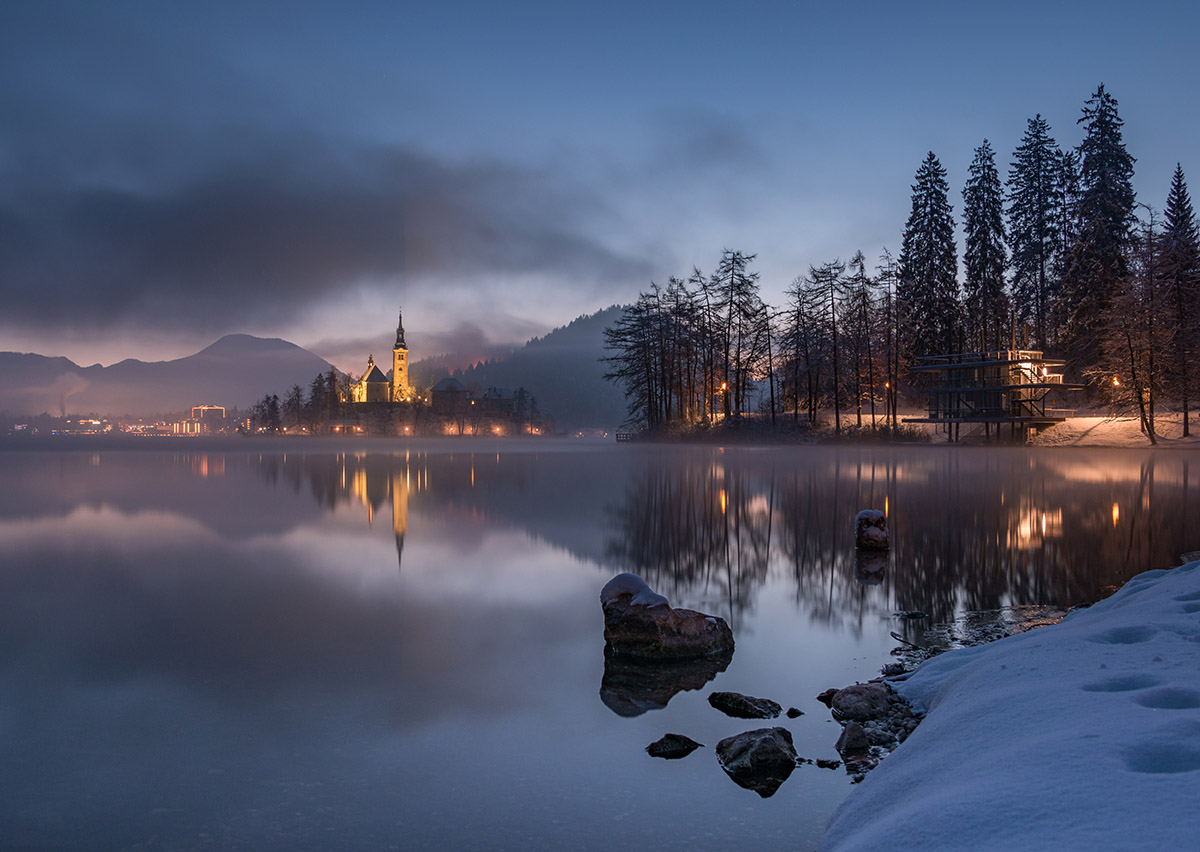 Early morning at lake Bled