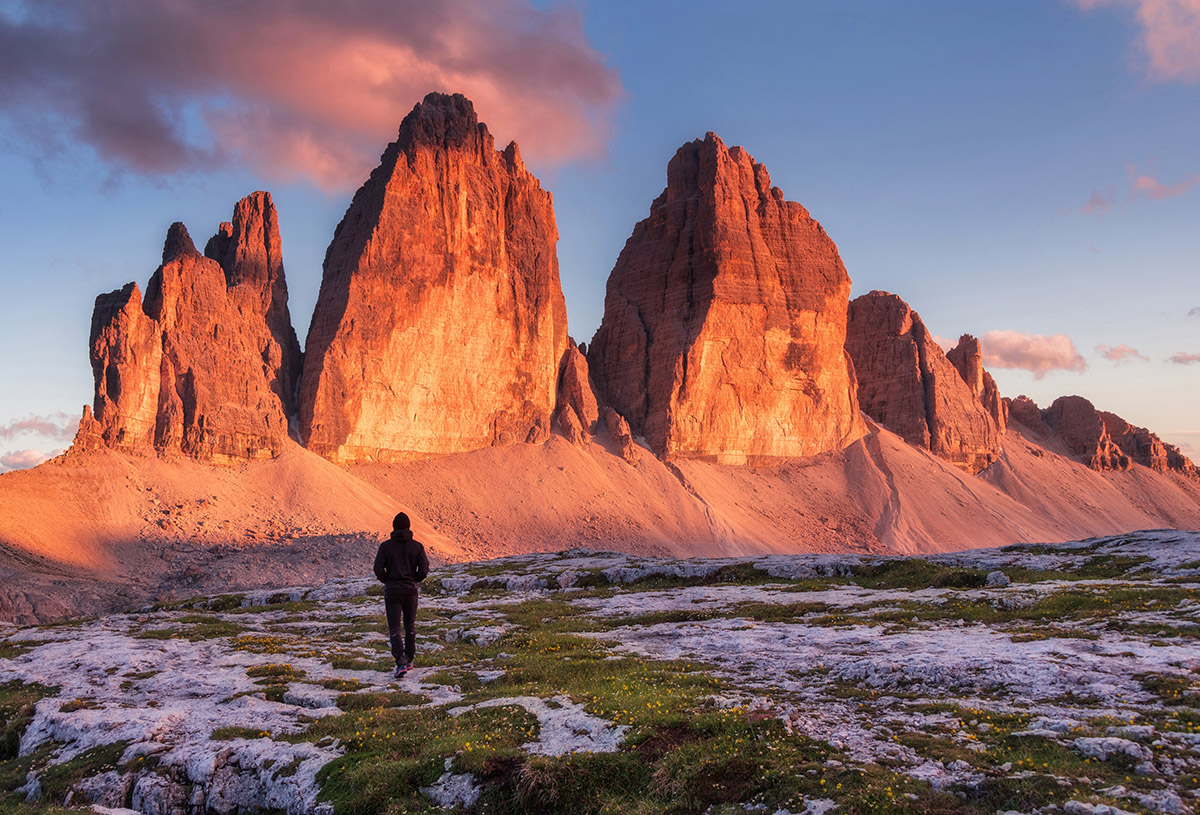 Dreamy Pixel Walk Around Tre Cime Di Lavaredo Sunset