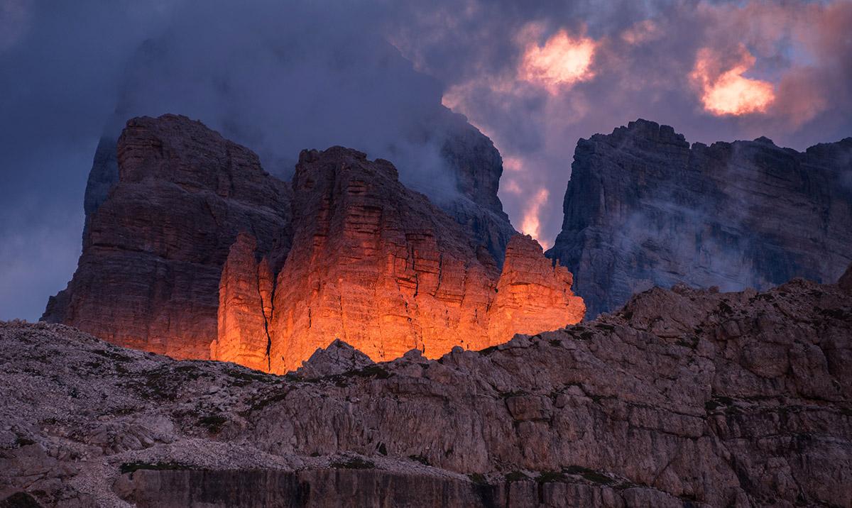 Fiery mountain giant