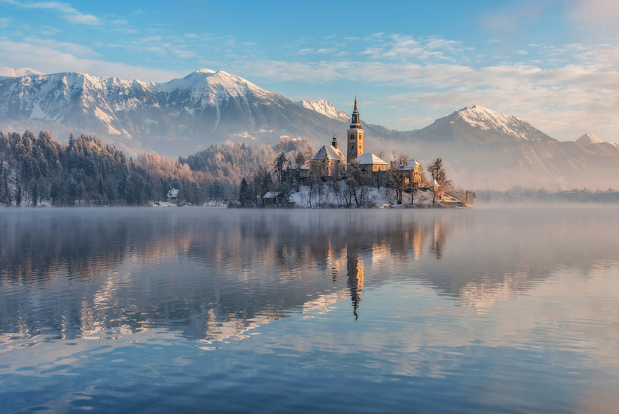 Dreamy Pixel Lake Bled With The Church Dreamy Pixel